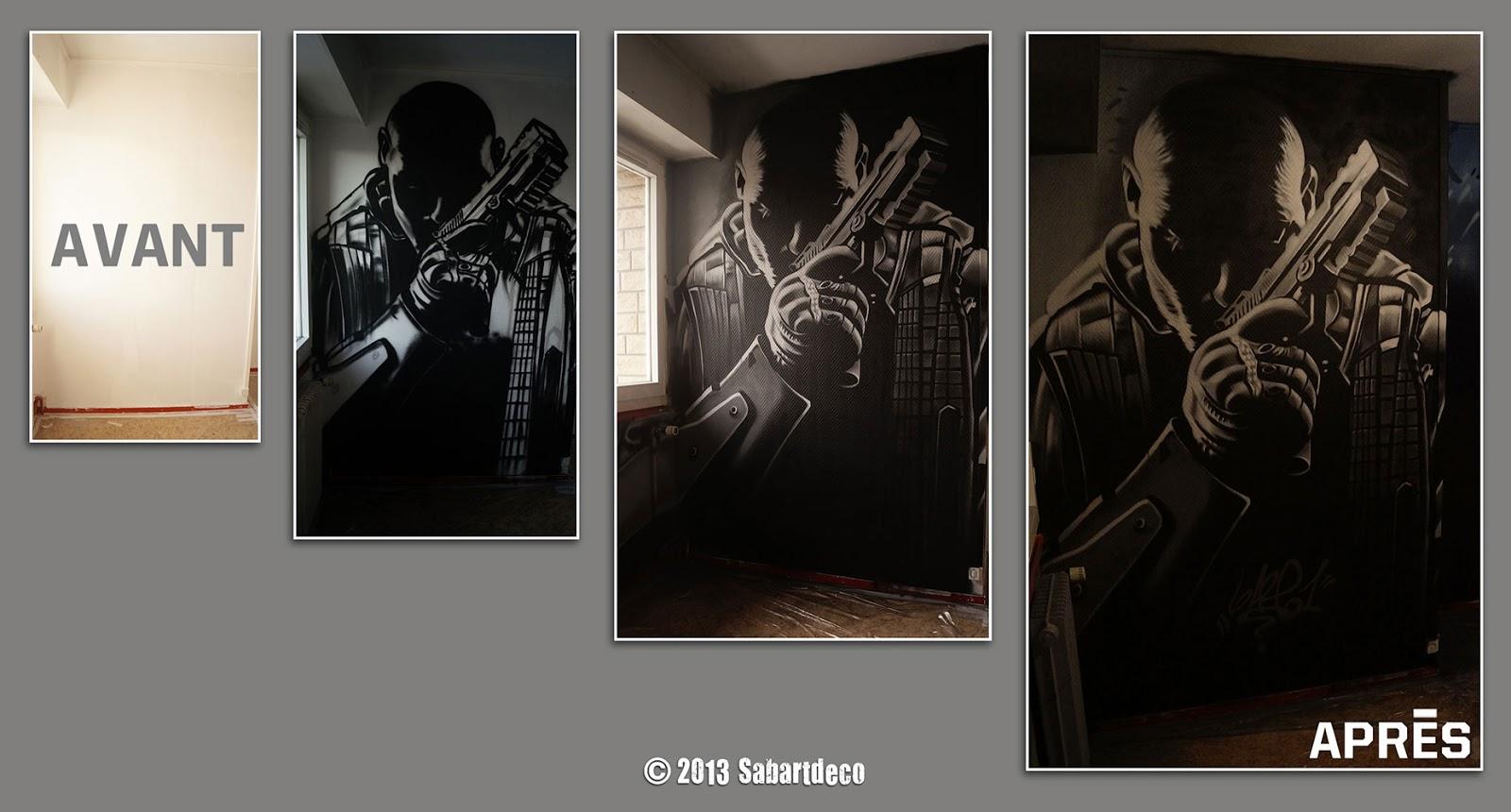 """Décoration Chambre de Djulian sur le thème """" Call of Duty"""" à"""
