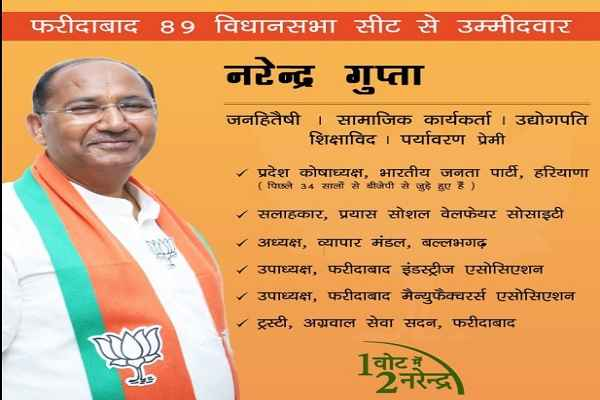 introduction-about-faridabad-bjp-candidate-narendra-gupta-news