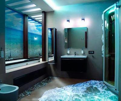 10 Lantai Kamar Mandi Dengan Motif 3D Paling Kece Badai