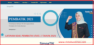 LATIHAN SOAL PEMBATIK LEVEL 1 TAHUN 2021