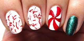Red Spiral Nail