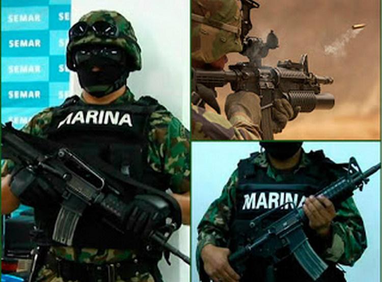 Sicarios emboscan a marinos en Chalco; les roban M16