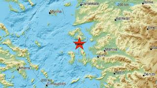 Ισχυρός σεισμός 6,3 Ρίχτερ νότια της Μυτιλήνης