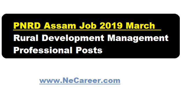 pnrd necareer job 2019 assam