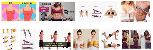 Ejercicios para engordar los senos