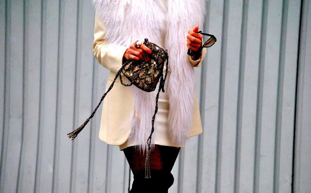 como vestir blanco en invierno, mislooks, asesora de imagen, como llevamos blanco en invierno, bucaneras, tapado blanco, vestido blanco, ginebra, zara, streetstyle, imagen y estilo