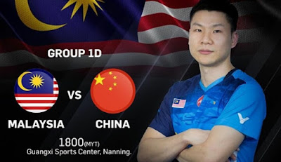 Live Streaming China vs Malaysia Badminton Piala Sudirman 19.5.2019