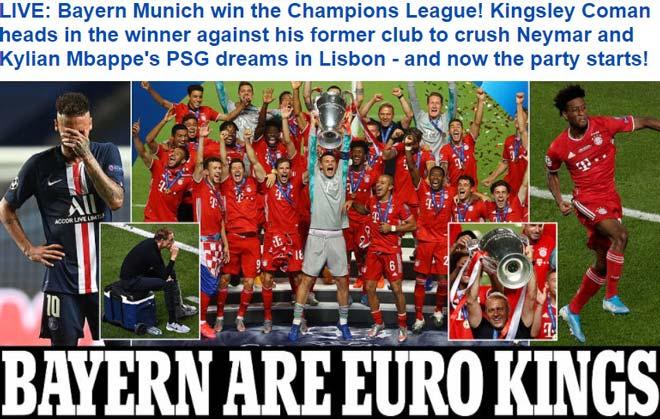 Bayern Munich vô địch Cúp C1: Báo chí ngợi ca người hùng bất ngờ hạ PSG