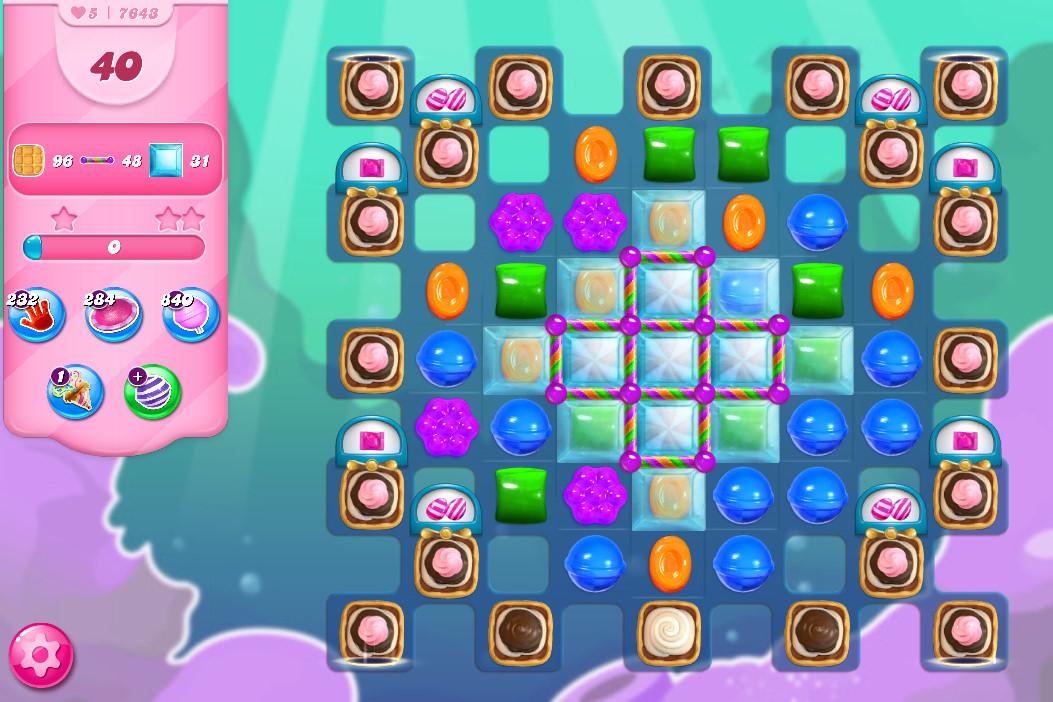 Candy Crush Saga level 7643