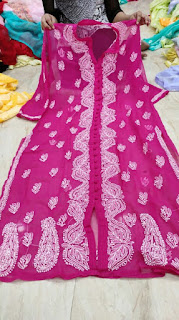 Chikankari Embroidered Georgette Kurtis