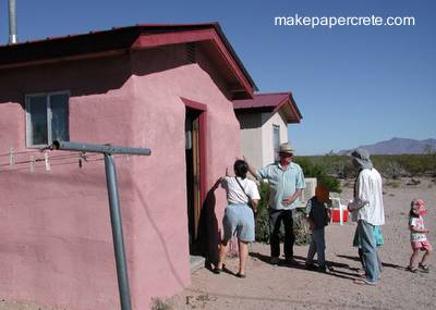 Casa hecha de Papercrete
