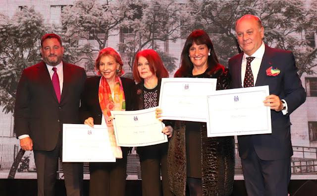 Mercedes Von Dietrichstein, Lilly Sielecki, María Podesta (presidente de la Orden de Malta Argentina) y el empresario Martín Cabrales