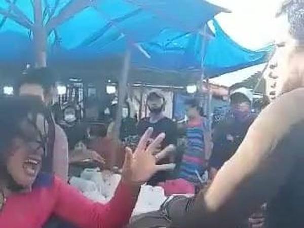 Viral Wanita Dipukuli Preman di Pajak Gambir Tembung Sumut