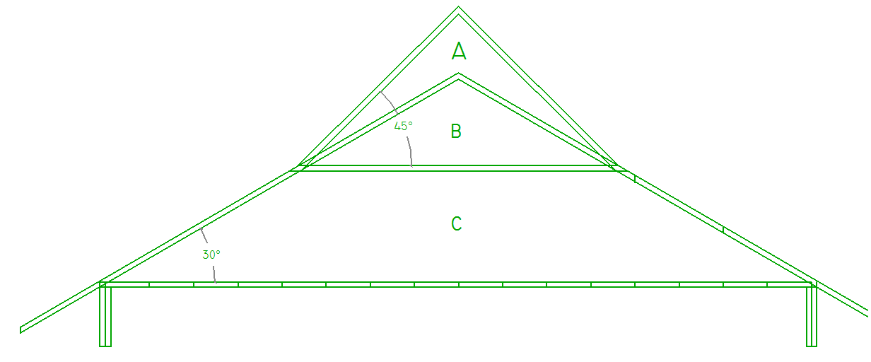 nama dan bentuk baja ringan cara menghitung volume atap pelana limas