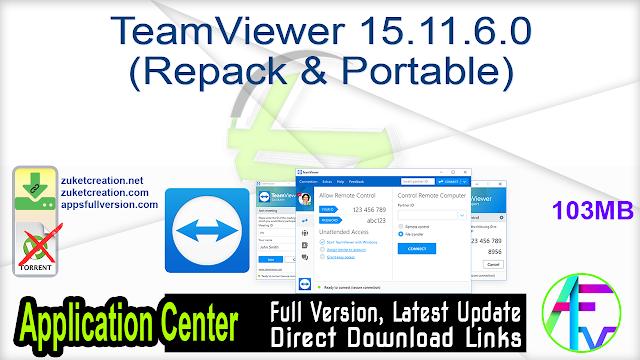 TeamViewer 15.11.6.0 (Repack & Portable)