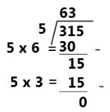 315 ÷ 5 = 63 www.simplenews.me
