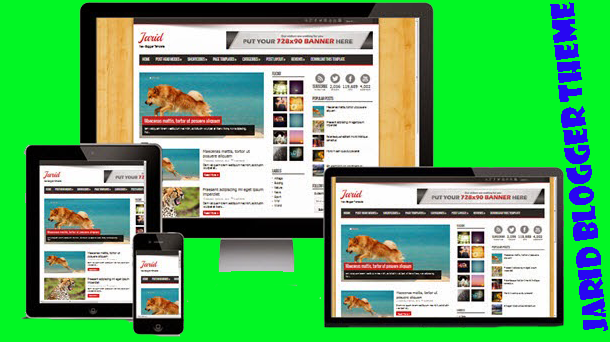 Jarid Premium Blogger Theme Responsive - Responsive Blogger Template