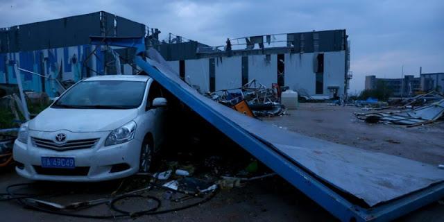 China Dihantam Tornado, Tewaskan 12 Orang Dan Melukai Ratusan Penduduk