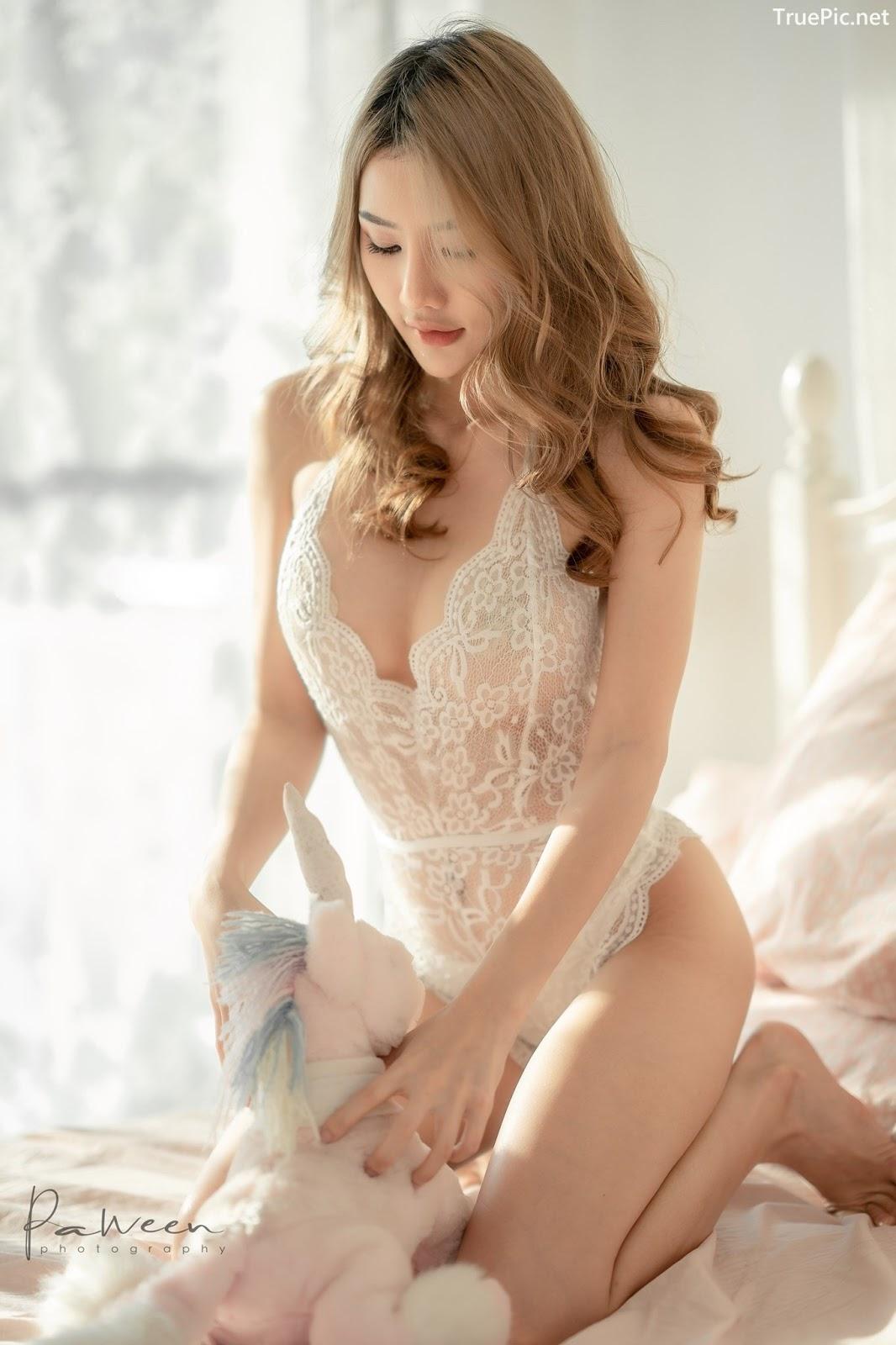 Image Thailand Model - Atittaya Chaiyasing - White Lace Lingerie - TruePic.net - Picture-10