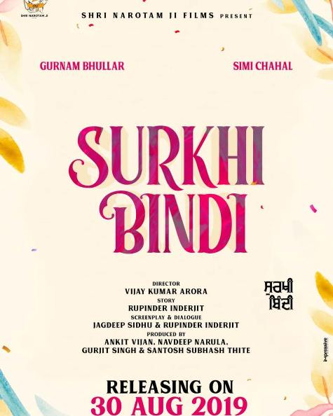 full cast and crew of Punjabi movie Surkhi Bindi 2019 wiki, film story, release date, movie Actress name poster, trailer, Photos, Wallapper