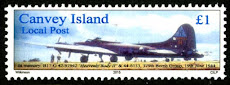 Canvey Local Post B-17 Flying Fortress Stamp