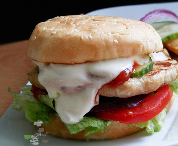 Chicken Burgers - Homemade Chicken Burger , nigerian food tv, nigerian food recipes