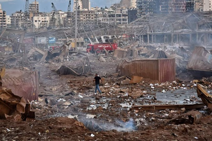 Beirut Blasts Footage From Social Media Share and Online News in Lebanon