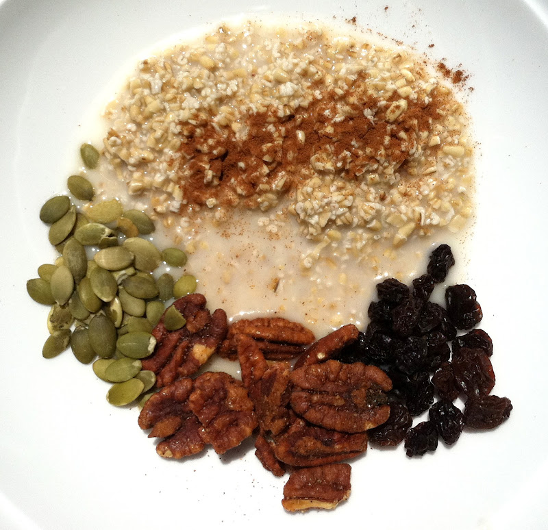 Simple And Nutritious: Green & Plenty: Simple And So Nutritious Soaked Steel Cut Oats