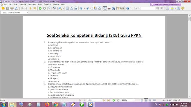 Contoh soal tes P3K/PPPK guru PKN dan kunci jawaban