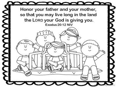 3 father 1 mother coloring pages   Honor Your Father And Mother Coloring Page Sketch Coloring ...