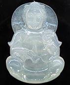 Jade Buddha Pendant Transparent White