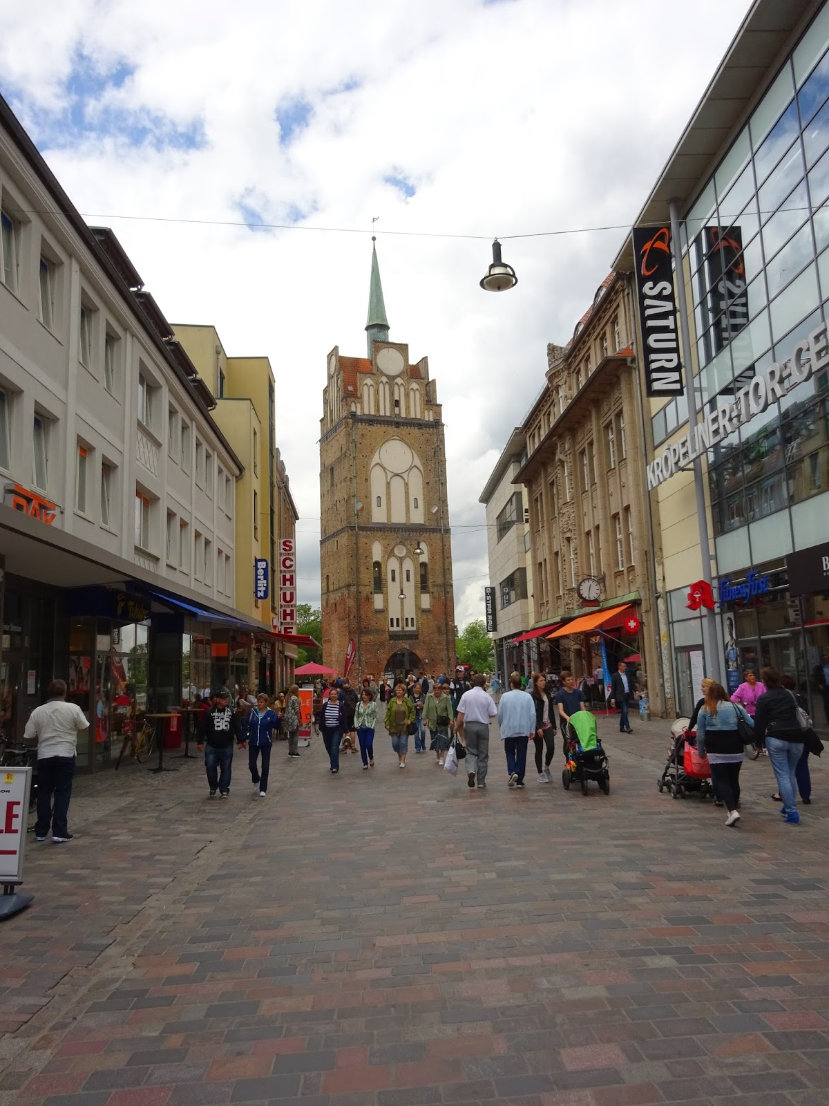 Rostock Shopping Cyclist Paul S Travels Rostock Germany