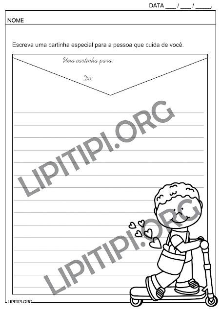 Atividade Carta Para Pessoa Especial/Dia dos Pais