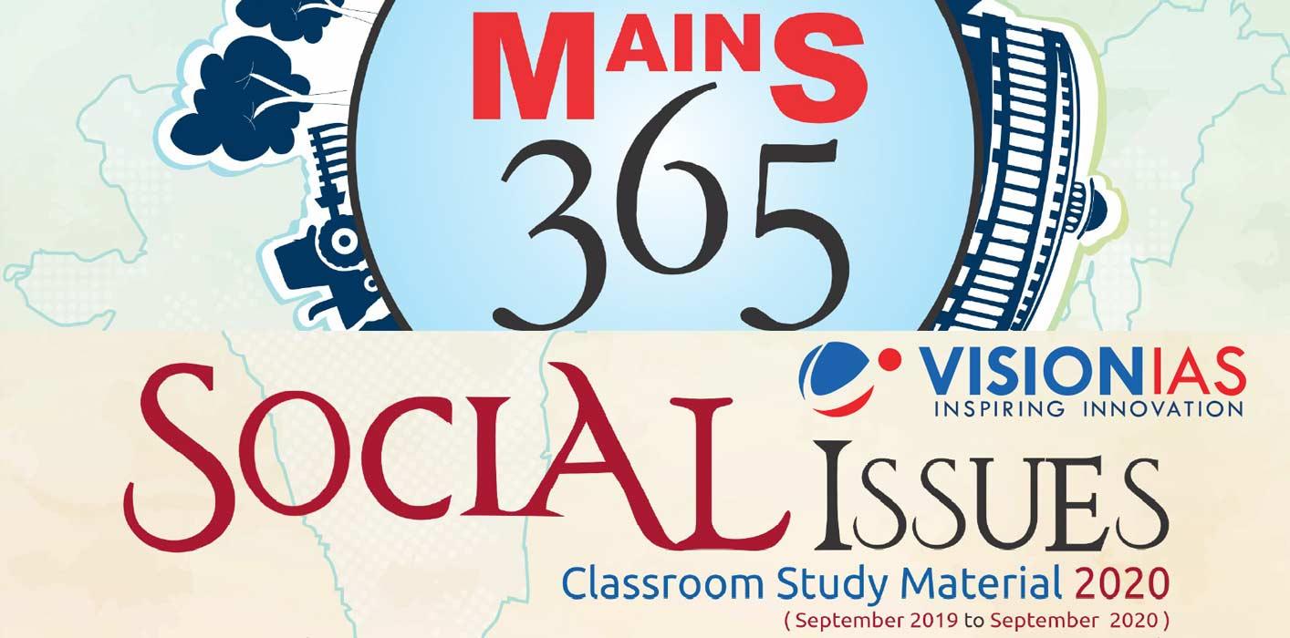 Vision IAS Mains 365 Social Issues 2020