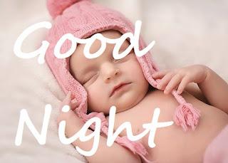 good night cute baby girl pic