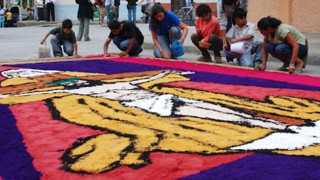 Dywany z trocin w Hondurasie