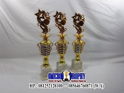 Model Piala Kombinasi Marmer dan Plastik