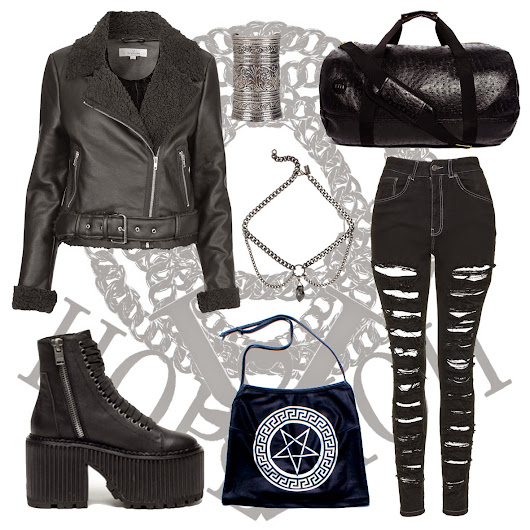 Outfit of the day featuring pentagram crop and new UNIF Era Boots