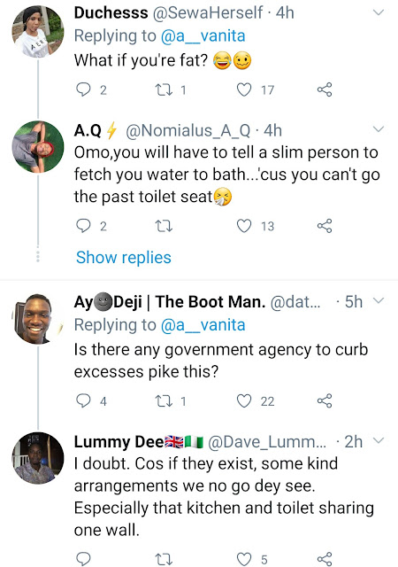 Woman in shock as she shares photo of a bathroom in Lagos