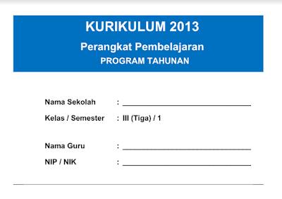 Download Prota Kelas 3 SD Kurikulum 2013 Semester 1 dan 2
