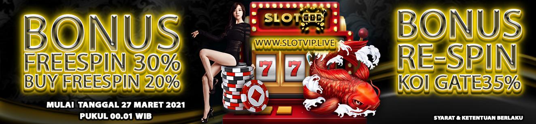 Event Spesial Slotvip - Bonus Freespin & Respin Up To 35%