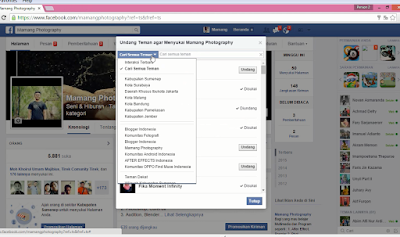 Cara Undang Teman untuk Like Fanspage Facebook
