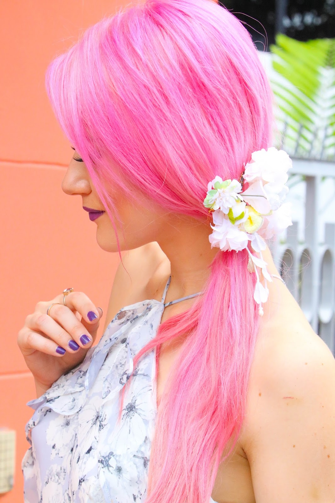 Romantic Hairstyle with Flowers