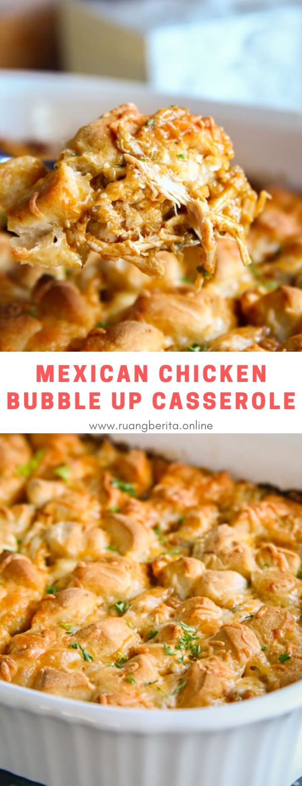 Mexican Chicken Bubble Up Casserole #maincourse #dinner #mexican #chicken #bubbleup #casserole