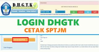 Login Aplikasi DHGTK