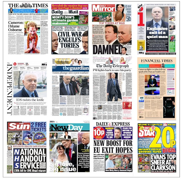 front pages 21-03-16