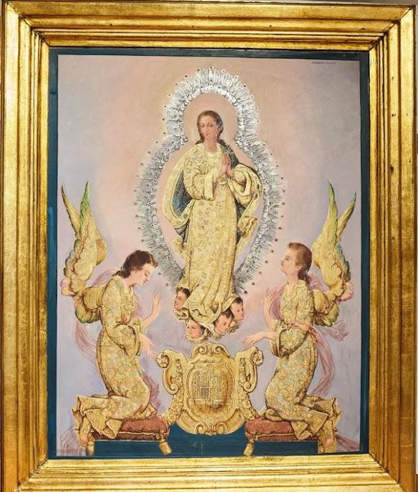 La hermandad de la Paz incrementa su patrimonio artístico con una pintura de Martínez Cerrillo