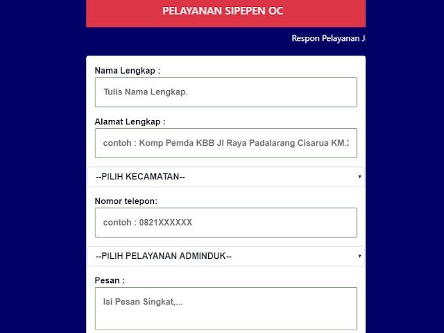 Ini Cara Daftar Layanan SIPEPEN-OC Kabupaten Bandung Barat