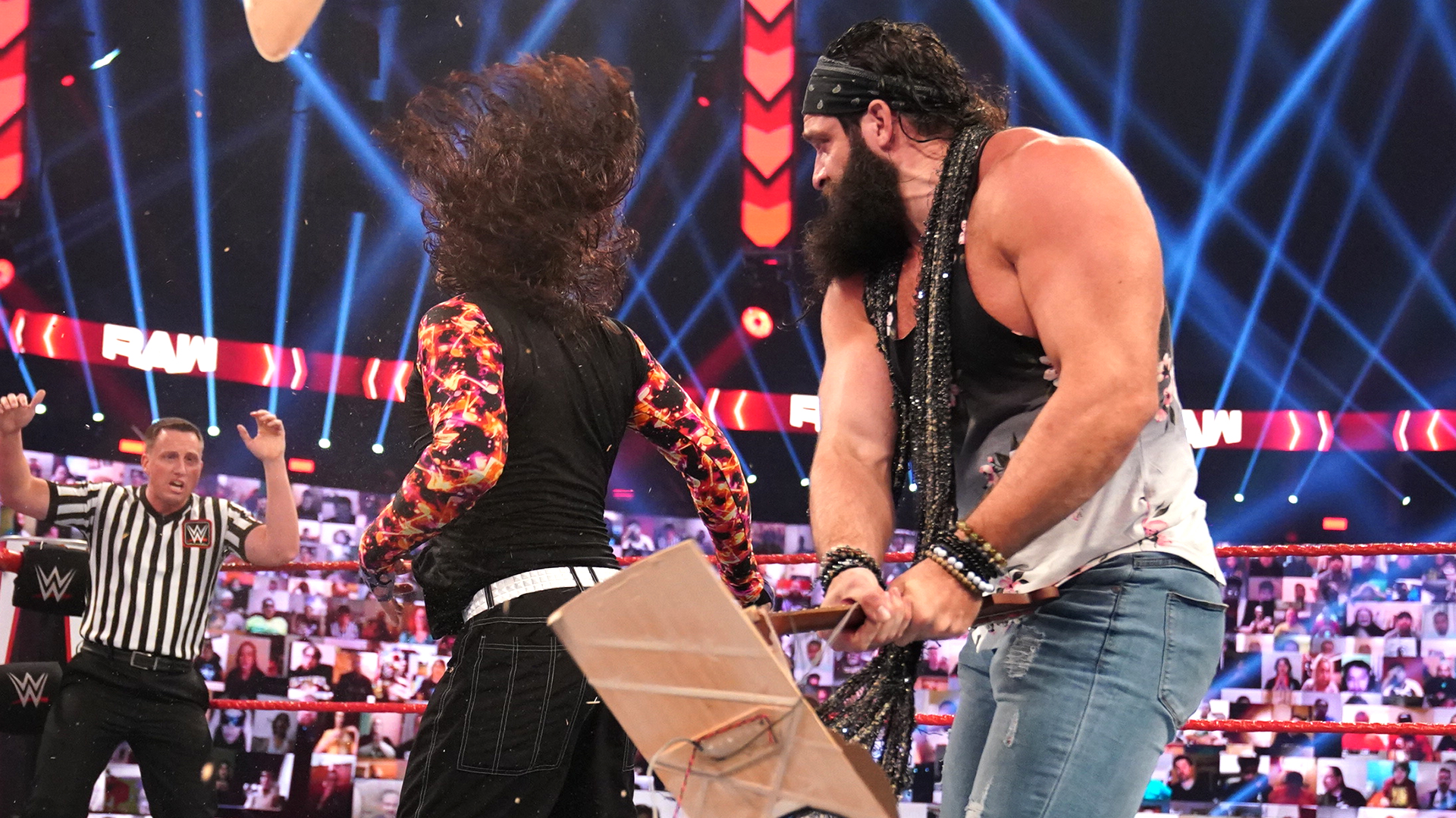 Elias and Jeff Hardy on Monday Night RAW
