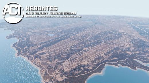 射撃演習場をArma 3に追加するHebontesマップMOD